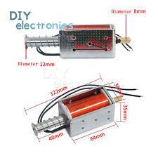 12v Dc Long Stroke Solenoid Electromagnet Electric Magnet Push Pull Actuator Us