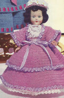 Vintage Crochet Pattern To Make Fancy Doll Clothes Dress Hat Petticoat 8 Belle