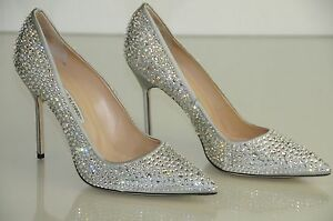 1685 new manolo blahnik bb cry 105 silver crystal jeweled pump 1685 new manolo blahnik bb cry 105 silver junglespirit Gallery