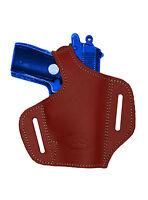 Barsony Burgundy Leather Pancake Gun Holster Beretta Mini-pocket 22 25