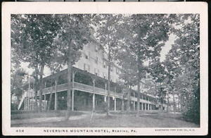 READING PA Neversink Mountain Hotel Antique Prelinen UDB Postcard Old Vtg B&W PC