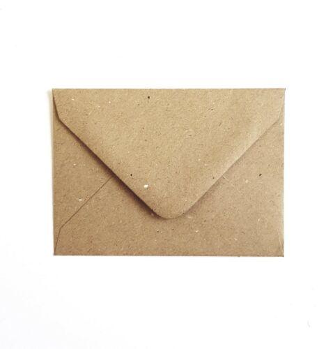 C7 A7 Kraft Recycled Paper Mini Envelopes Rustic RSVP Wedding Wholesale 1000+