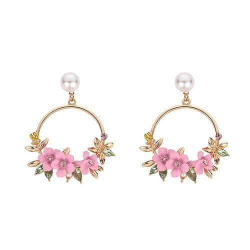Fashion asymétrique Boucles D/'oreilles Bijoux Femmes Fleur Dangle Goutte Oreille Cerceaux cadeaux