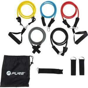 Pure2Improve-Exercise-Tube-Set-Home-Gym-Yoga-Expander-Fitness-Resistance-Band