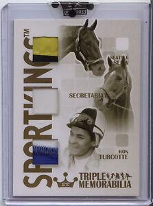 Sportkings-B-Secretariat-Seattle-Slew-Ron-Turcotte-Triple-Memorabilia-Gold-7-10