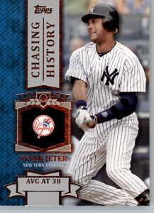 2013 Topps Chasing History #CH-37 Derek Jeter - New York Yankees