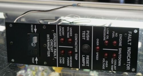 MILITARY TQG GENERATOR FAULT LIGHT PANEL /& GFI 88-21142 88-22826 29400-2 19330