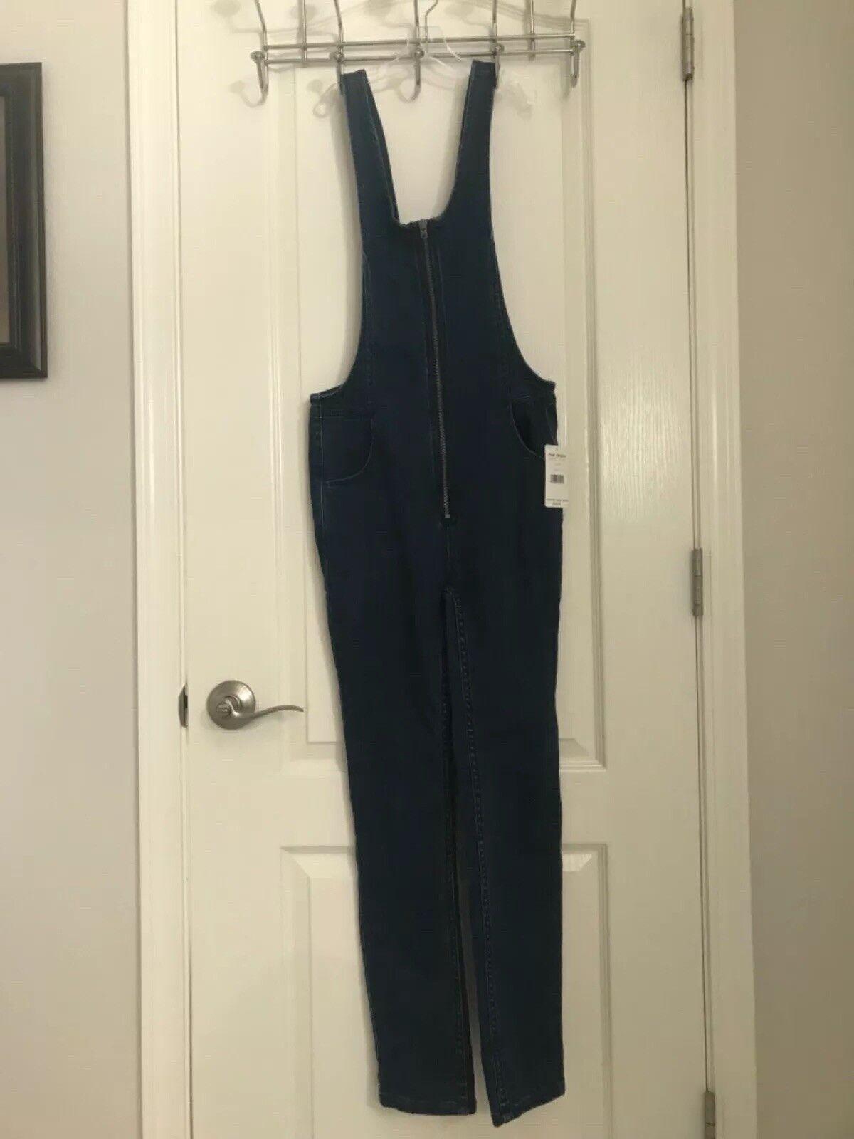 Free People Jax bluee Denim jumpsuit 2 XS S