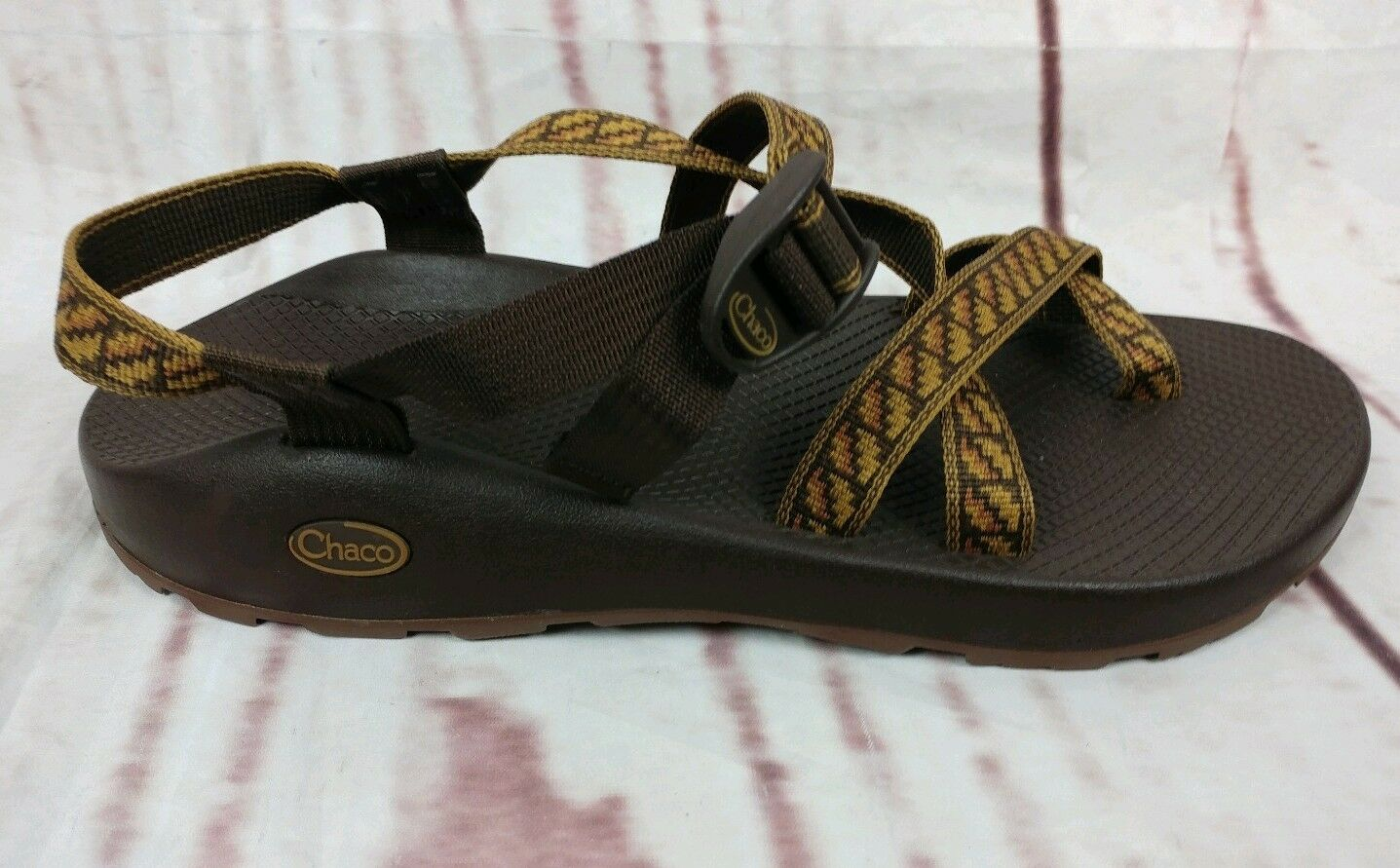 Mens Chaco Sandals Sandals Sandals US Dimensione 14 Marronee Tribal Trail Hiking Water Sport 0c669f