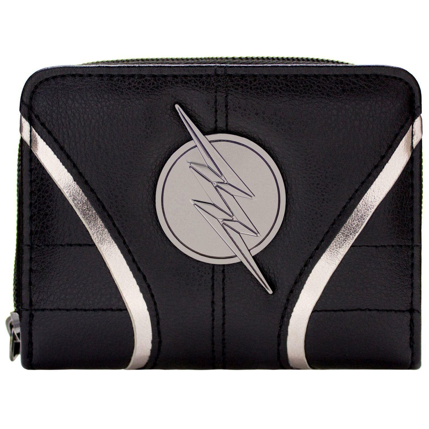 OFFICIAL DC Flash Zoom Suit Up Black Coin & Card Clutch Purse *SECOND*