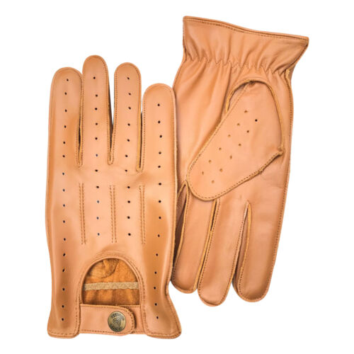Prime cuir gants de conduite souple pour homme style rétro confort chauffeur 7011 tan