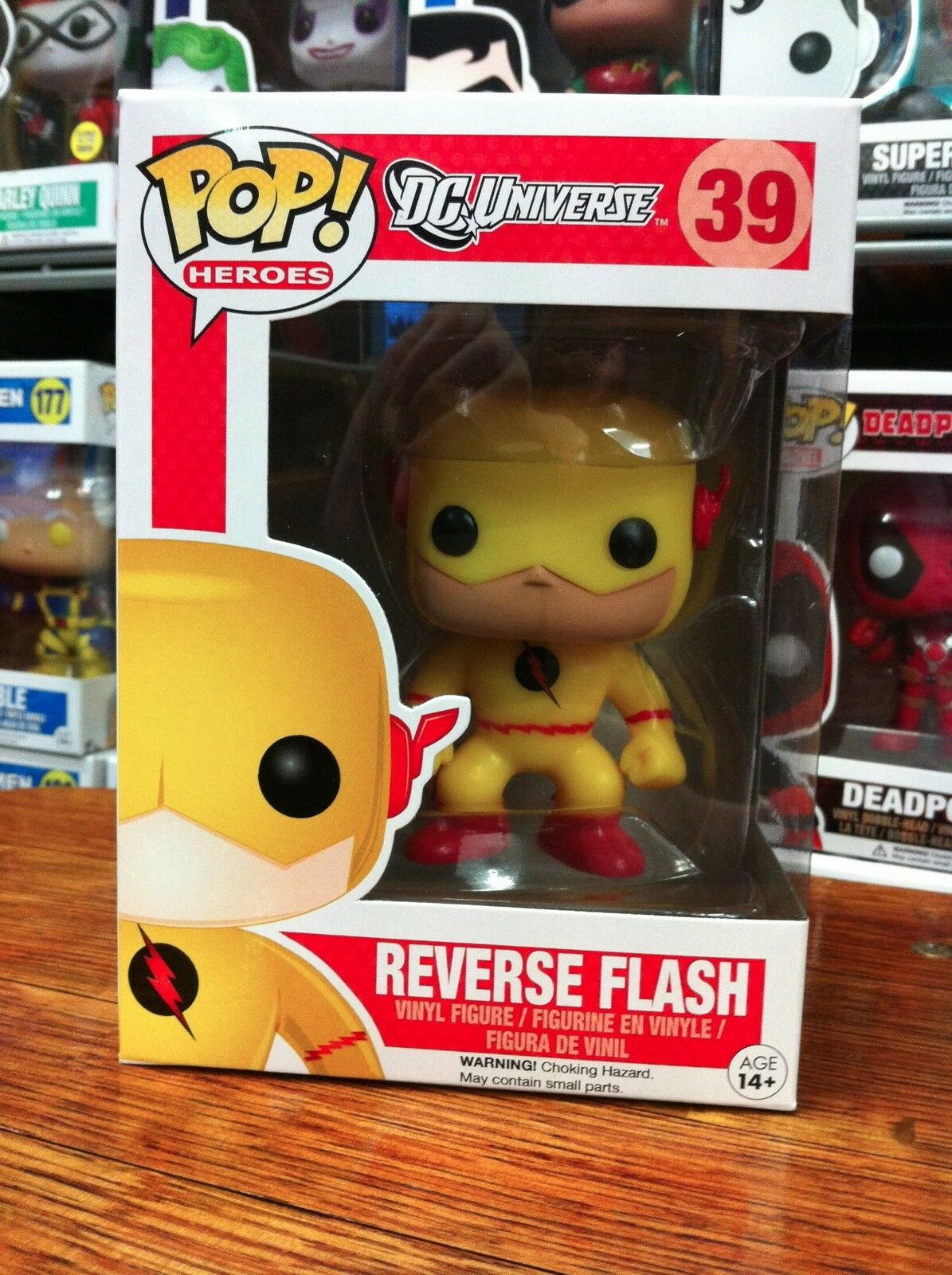 The Flash Reverse Flash 39 Funko Pop Vinyl Expert Packaging
