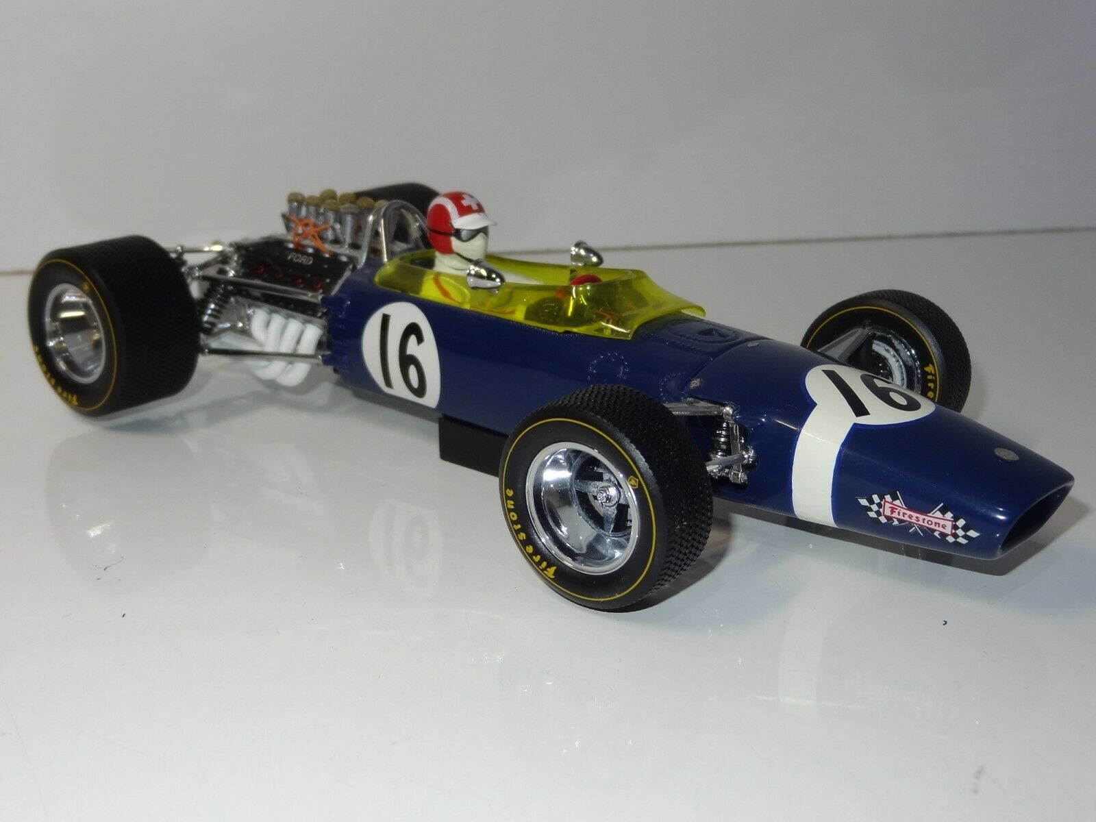(W) EXOTO 1  18 9704 Lotus Ford 49 Jo Siffert 1968 Spanska F1 Grand Prix lådaED