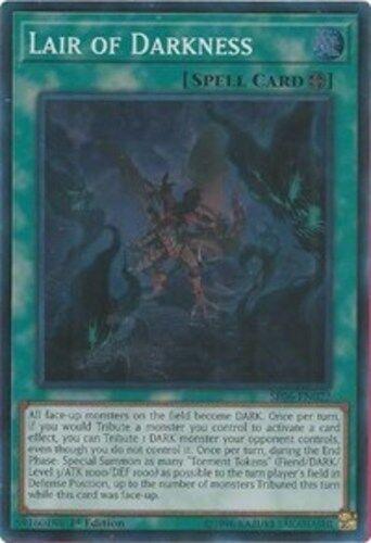Yugioh Super Rare SR06-EN022 Engl Lair of Darkness 1st Edition Near Mint