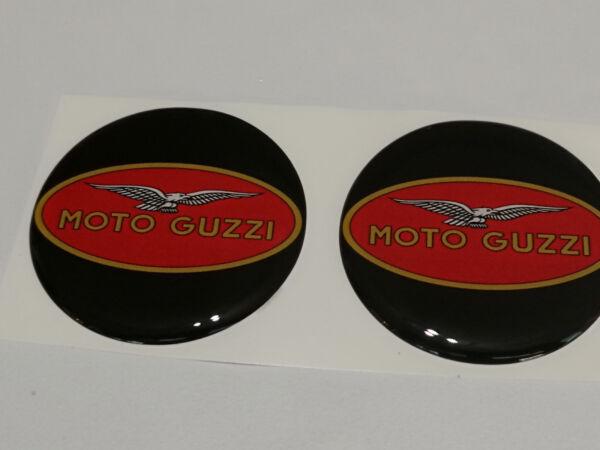 2 Adesivi Moto Guzzi Nero Rosso 6 Cm 3d Resinati Betrouwbare Prestaties