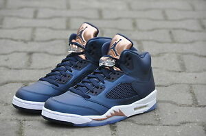 brand new ea343 13dc7 Image is loading Nike-Air-Jordan-5-Retro-GS-Bronze-Tongue-