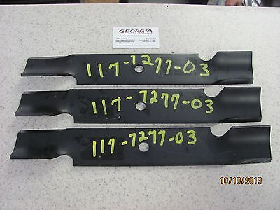 """3 Pack HD Mulching Toothed Blades 48/"""" For Toro 117-7277-03 107-3192-03 ZX4800"""