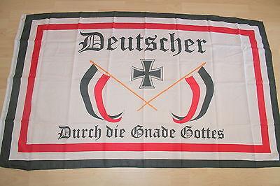 1609 Fahne Flagge Kaiserreich Deutscher durch die Gnade Gottes   150 x 90