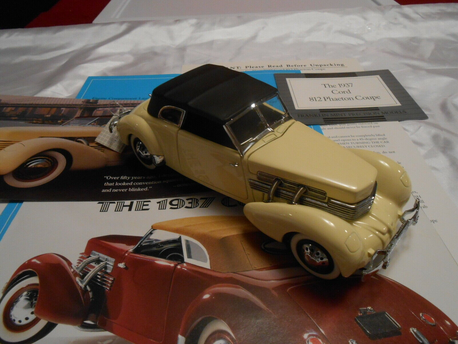 Franklin Mint - 1937 CORD 812 Phaeton Coupe 1 24 Diecast - All Documents - New
