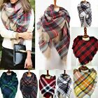 Women Blanket Oversized Tartan Scarf Wrap Shawl Plaid Cozy Checked Pashmina Chic