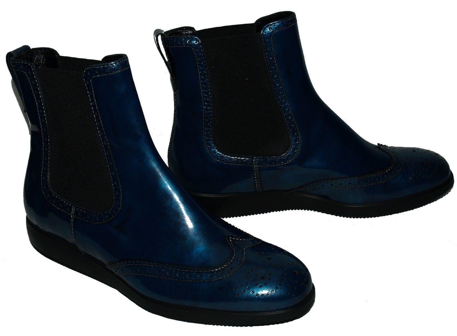 Hogan Stivaletti polacco blu Scarpe Scarpe blu donna f87857
