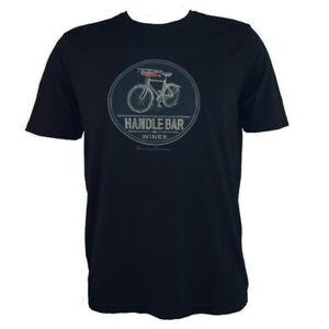 TOMMY-BAHAMA-Men-039-s-T-shirt-HANDLEBAR-WINES-Bike-Winery-Bottle-S-M-Black-Tee-NEW