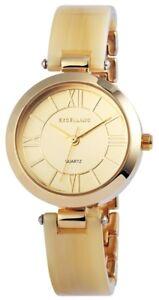 Excellanc-Damenuhr-Gold-Spangenuhr-Analog-Metall-Quarz-Armbanduhr-X180904000002
