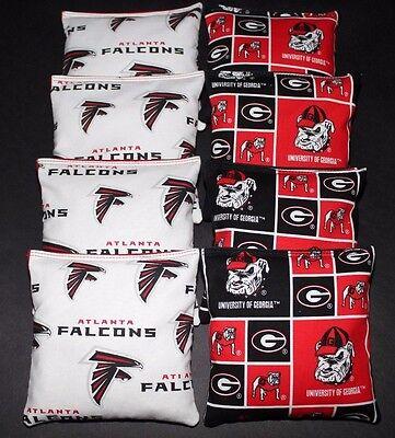 University of GEORGIA BULLDOGS Cornhole Bean Bags 8 ACA Regulation UG Toss Bags