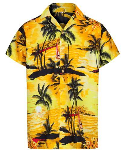2XL MENS HAWAIIAN SHIRT PALM TREE STAG BEACH HOLIDAY ALOHA SUMMER FANCY DRESS S
