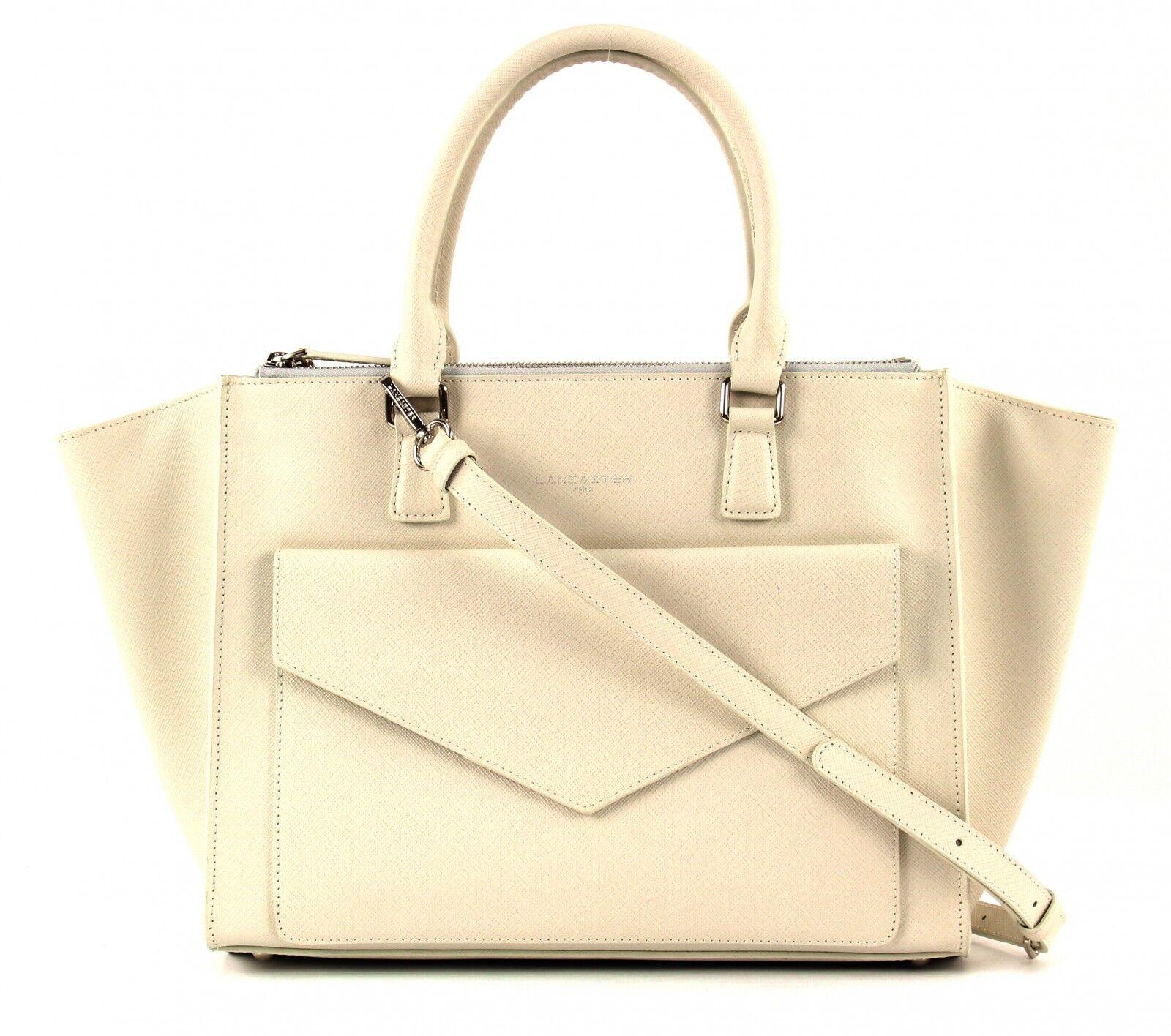 LANCASTER Adèle Handbag Tasche Schultertasche Schultertasche Schultertasche Handtasche Damen Ivory Weiß Leder | Roman  | Glücklicher Startpunkt  | Ausgezeichnetes Handwerk  1c8c95
