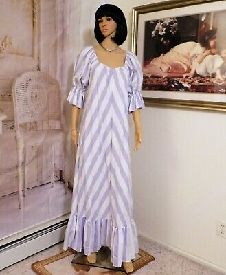 LUCIE ANN vintage Nylon Antron nightgown PINK Eyelash Lace sleeve size M medium