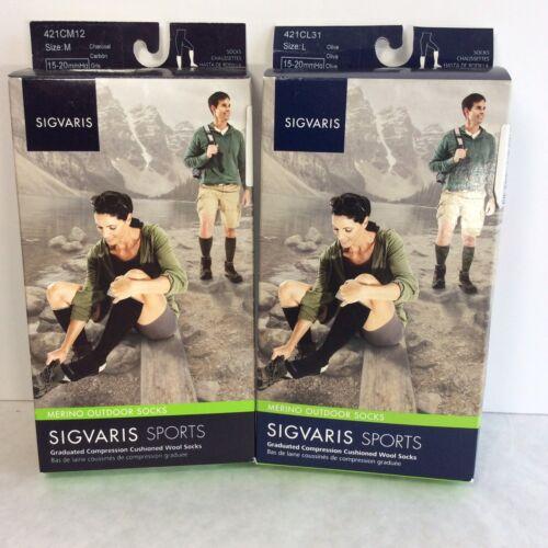 421C NEW Sigvaris Graduated Compression Cushioned Merino Wool Socks S M L XL