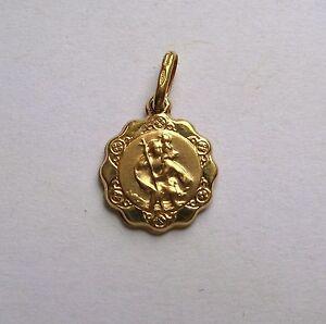 9ct-Gold-Lightweight-St-Christopher-Pendant-0-6g