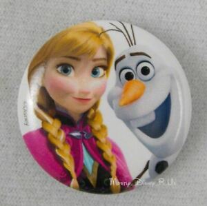 New-Disney-Frozen-Princess-Anna-And-Olaf-1-25-034-Button-Pin-Back-Lanyard-Charm