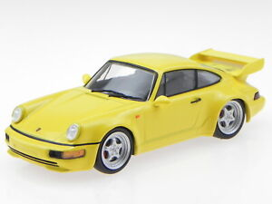 Porsche-911-964-RS-3-8-yellow-1992-diecast-modelcar-Atlas-1-43