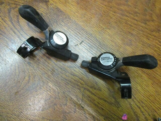Speed Road Bicycle Shift Levers Thumb Friction Trigger Grip Gear Shift Set