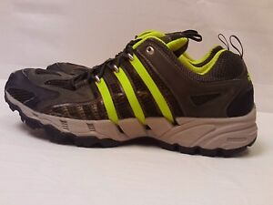 best website 6fda8 7411a Details about Adidas Clima Cool Mesh Dark Green Neon Running Sneakers Speed  Grip System Sz 12