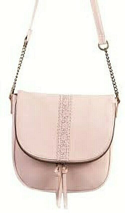 T-Shirt & Jeans Claire Crossbody Purse Bag Blush Color With Bronze Accents New
