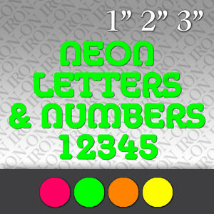 Fluorescent letters