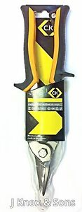 """CK 240mm Compound Action Tin Snips Straight Cut T4537AS 10/"""" Metal Tinsnips"""