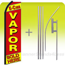 Feather Swooper Flutter Tall Banner Sign Flag 15' Kit- E-CIGS VAPOR SOLD HERE rz