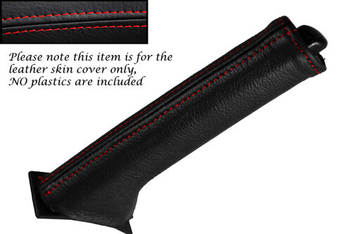 red stitching FITS FIAT UNO  HANDBRAKE HANDLE LEATHER COVER ONLY