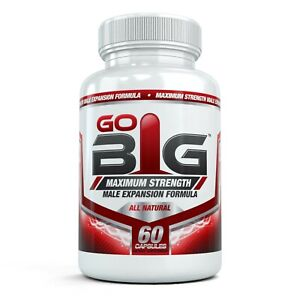 Go Big Maximum Strength Male Enhancement Formula for Natural Expansion, 60 Caps