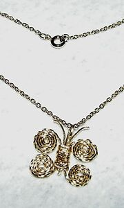 UNIQUE-HAND-CRAFTED-WIRE-ART-BUTTERFLY-PENDANT-WITH-19-INCH-GOLD-FILLED-CHAIN