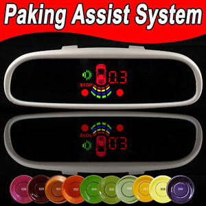 Copieux Auto Car Parking 8 Sensors System Tft Display Rearview Mirror & 4 Sensors Led Hd