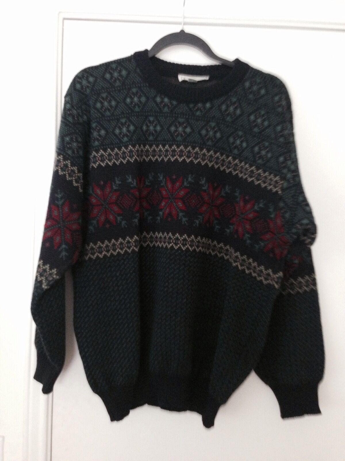 Vintage L.L. Bean Nordic Wool Sweater Made In Ireland L