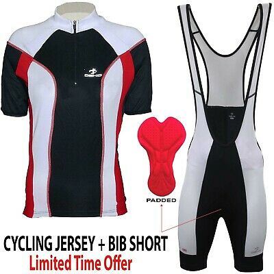 Bib shorts set DEKO Mens Cycling Jersey Half Sleeve Top Racing Biking Top