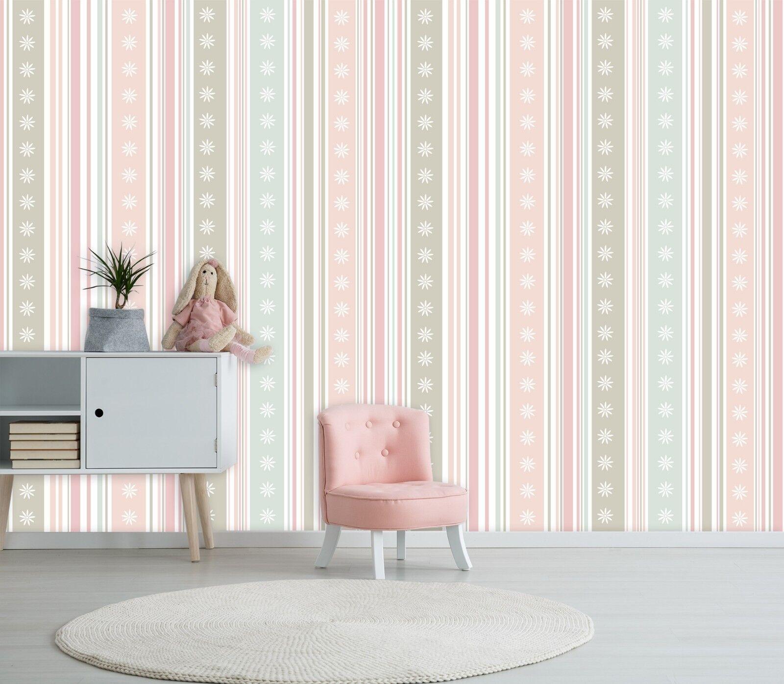 3D Snowflakes Stripe 455 Wallpaper Murals Wall Print Wallpaper Mural AJ WALL AU