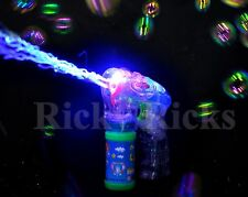 12 PACK LED Bubble Gun Flashing Light Up Bubbles Blaster Squirt Blower WHOLESALE