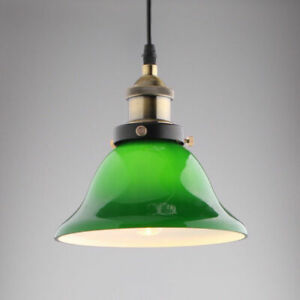 Details About Modern Emerald Green Glass Pendant Lighting 110v Kitchen Dining Hanging Lamp